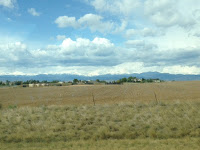 Colorado mountains from I25