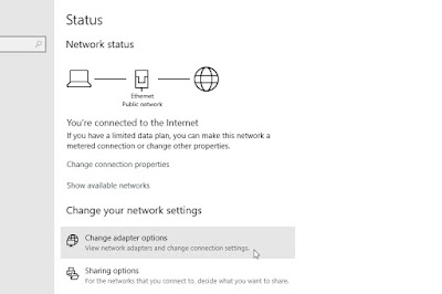 Melihat IP Address Lewat Network & Internet Settings