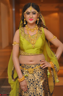 Sony Charishta in Green Choli Ghagra Transparent Chunni Ethnic Wear March 2017 050.JPG