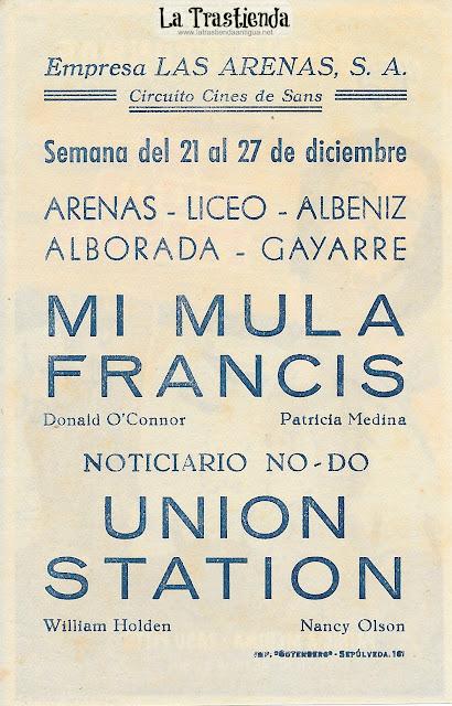 Mi Mula Francis - Programa de Cine - Donald O'Connor - Patricia Medina