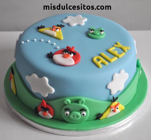 Tortas Temática Angry Birds. Venta de tortas temáticas infantiles en Lima. Venta de tortas en San Juan de Miraflores, Villa María, Villa el Salvador