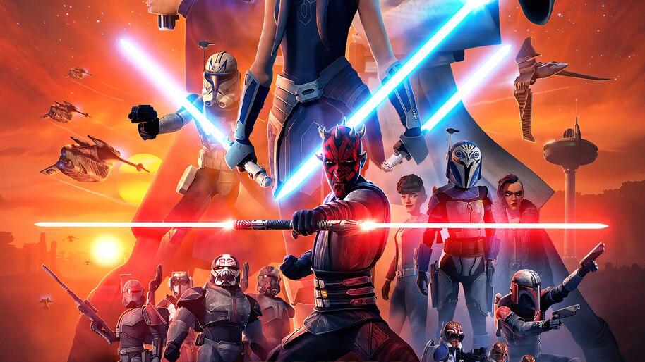 Darth Maul Star Wars The Clone Wars Season 7 Poster 4k Wallpaper 7 999