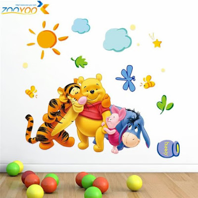 Winnie the Pooh and his friends Wall Stickers