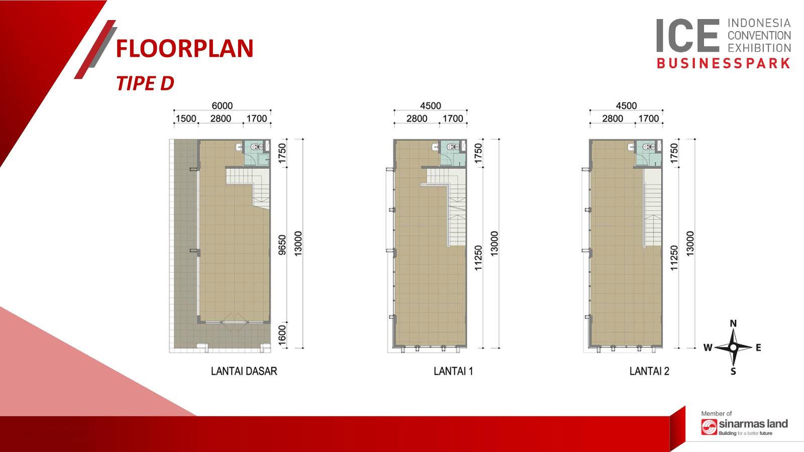 Blokplan Ruko ICE Business Park BSD - Tipe D