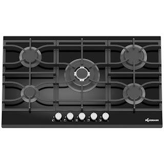 بوتاجاز كلوجمان مسطح بلت إن 60 × 90 سم 5 شعلة غاز لون أسود زجاجي مزود بأمان كامل للشعلات  KT905BGL