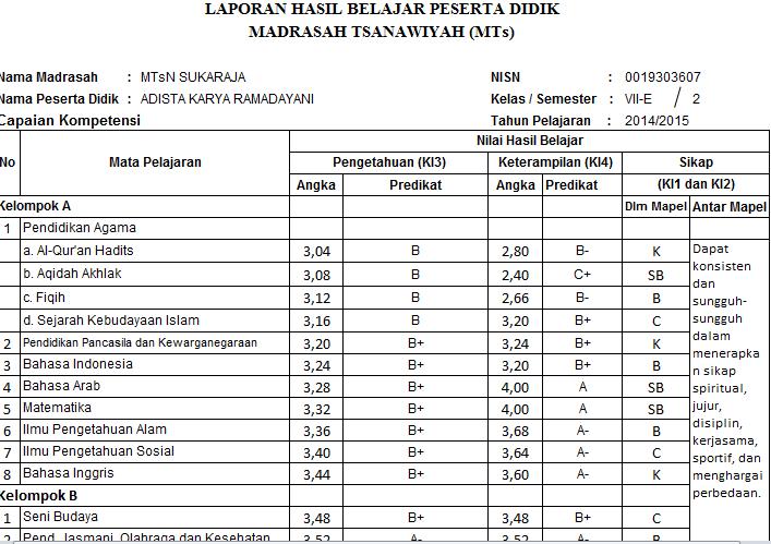 Raport MTs Negeri Kurikulum 2013 versi 04 Permedikbud 104 th 2014dengan Microsoft Excel - Download.xlsx
