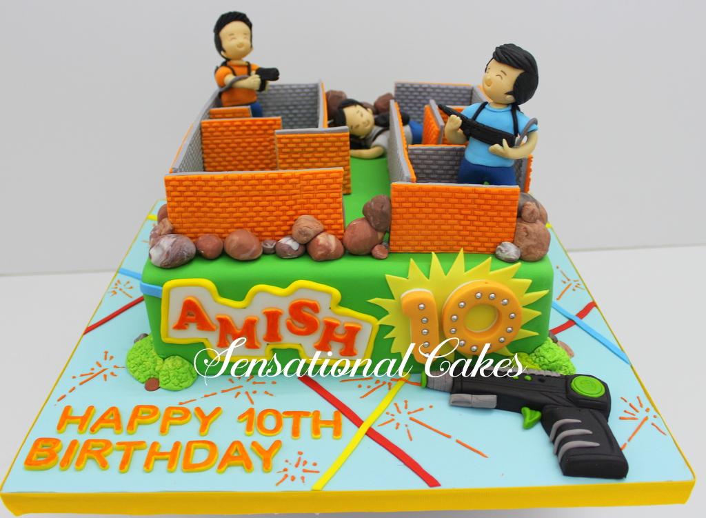 The Sensational Cakes Nerf Gun Theme Birthday Cake Singapore