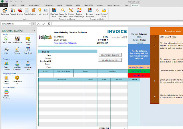 catering invoicing software