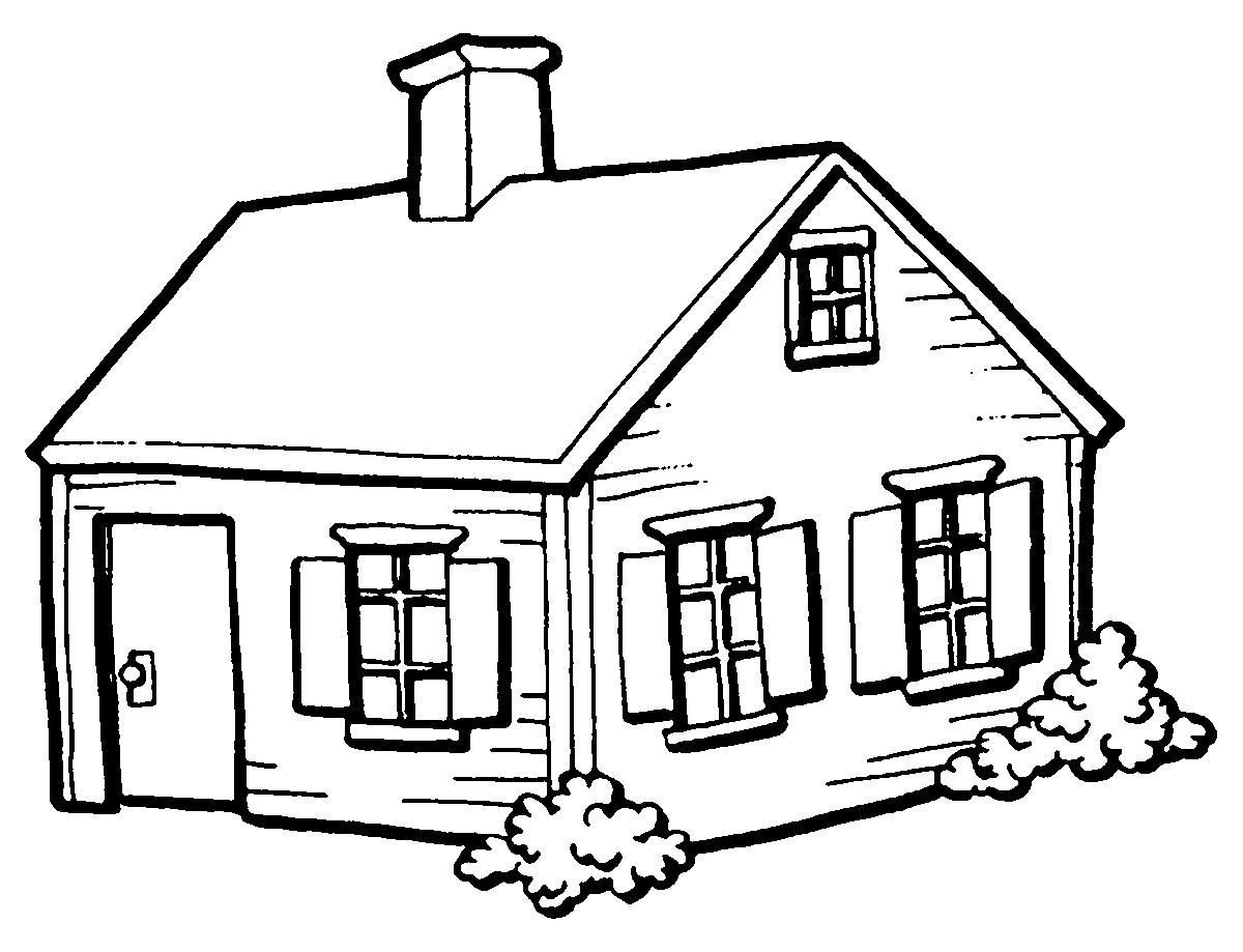 Brinquedos de papel casa desenhos para colorir - Para pintar casas ...