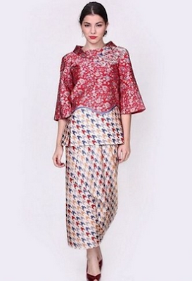Model terbaru dress batik panjang/long dress