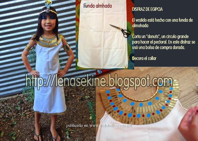 disfraz de egipcia sin coser