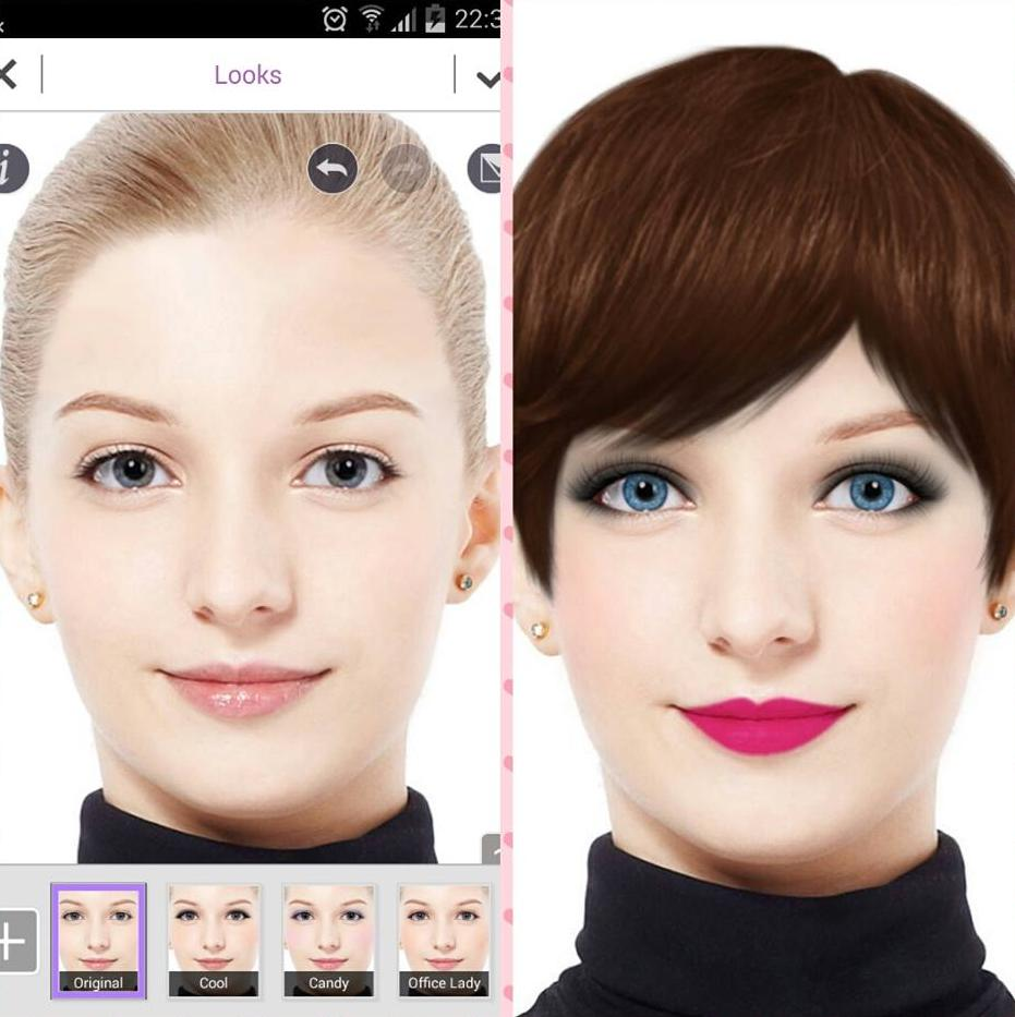 YouCam Makeup: Selfie Makeover. Free Download Photo Editing Android Apps