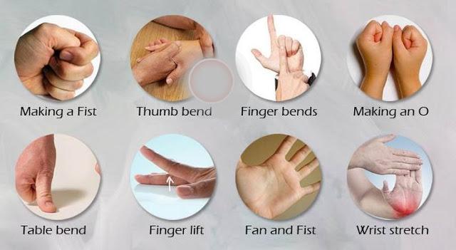 exercitiile de mai jos sunt foarte eficiente pentru vindecarea durerilor de artrita