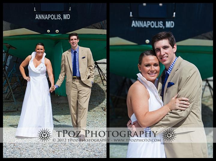 Port Annapolis Marina Wedding Portrait