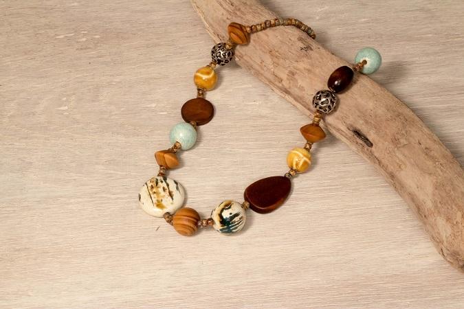 Halskette Keramikperlen selber machen