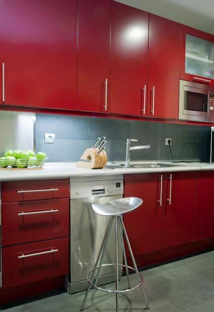 Modern Red kitchen Designs - Dwell Of Decor