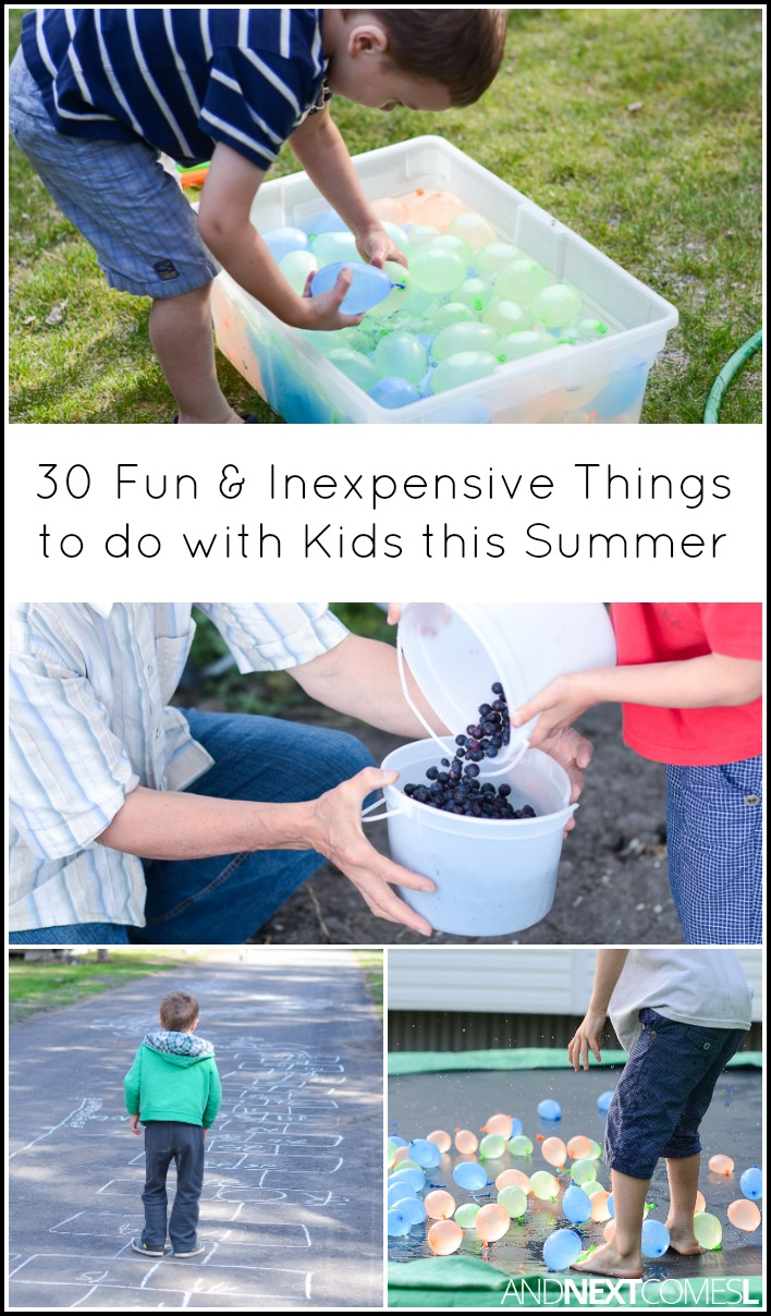 30 fun inexpensive things to do this summer with kids and next comes l. Black Bedroom Furniture Sets. Home Design Ideas