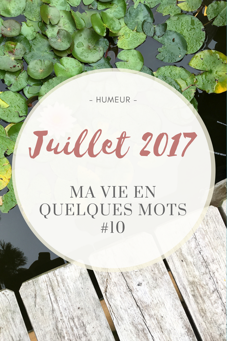 Bilan de Juillet 2017 - Humeurs, Séries, Cinéma, Lectures, Shopping, Blogging - @DEUXAIMES