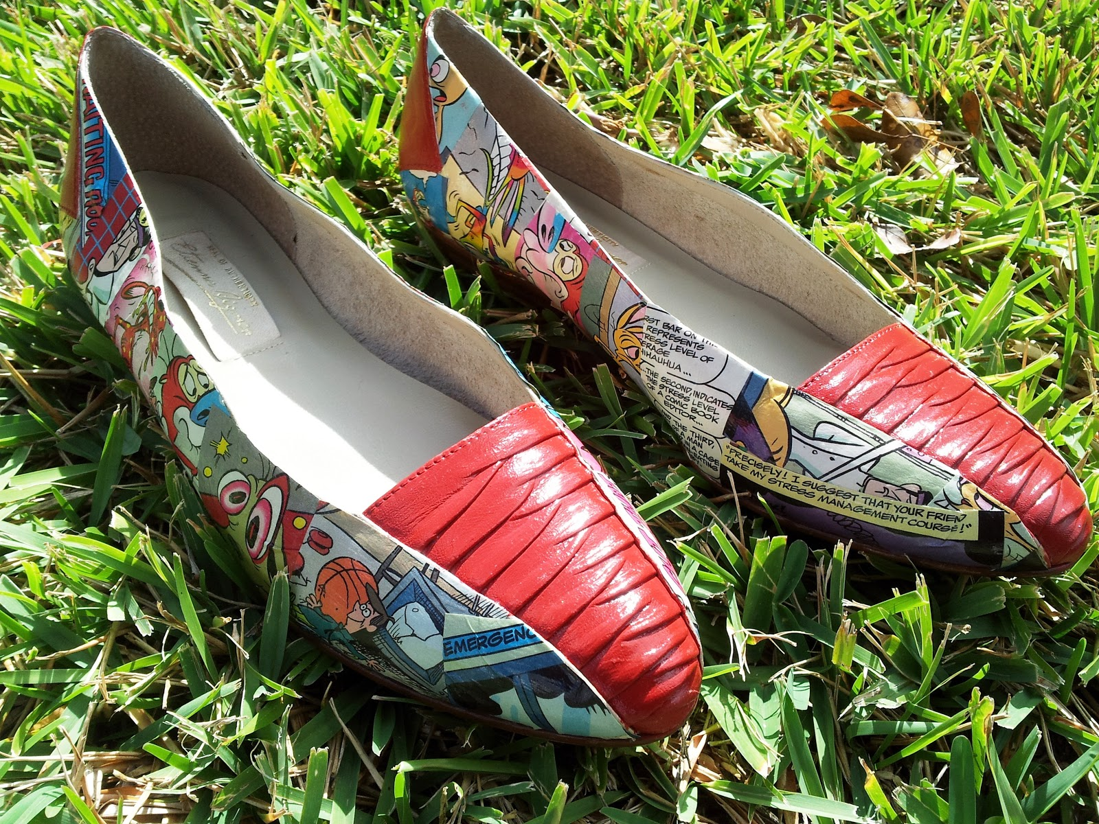 UpcycleFever: Decoupage Comic Book Shoes
