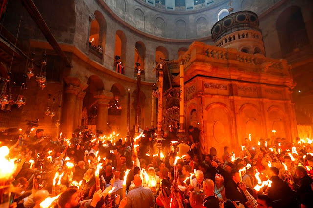 Holy Fire ceremony held in Jerusalem for Easter