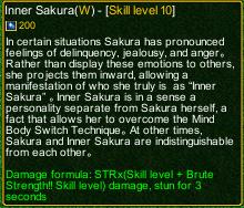 naruto castle defense 6.0 Inner Sakura detail
