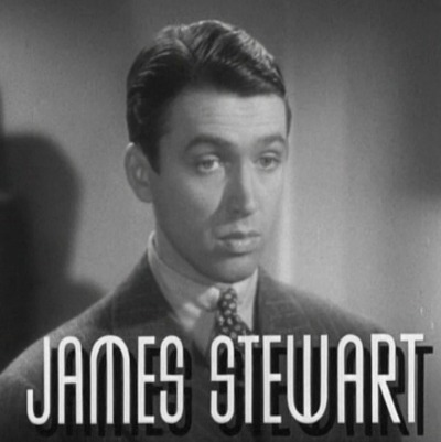 Screen shot of James Stewart in 1936 film After The Thin Man