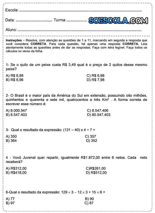 Baixe Em Pdf Problemas De Matematica So Escola