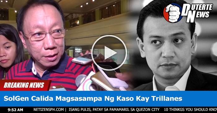 """JUST IN: Solden Calida Magsasampa Ng Kaso Ni Trillanes """"""""Bakit mo pinoprotektahan at tinatago ang isang kriminal?"""