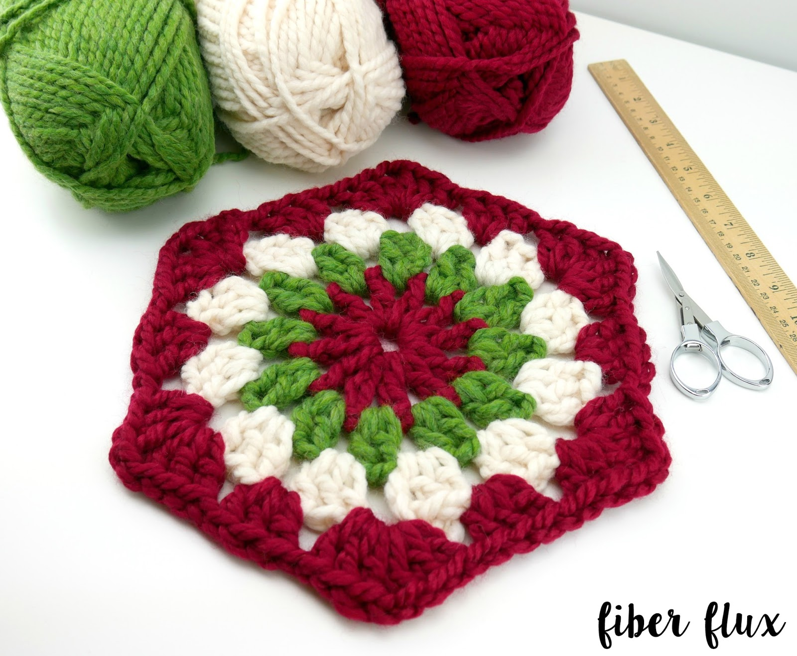 Fiber Flux 2016 Fiber Flux Holiday Cal Week 2 The Granny Hexagon
