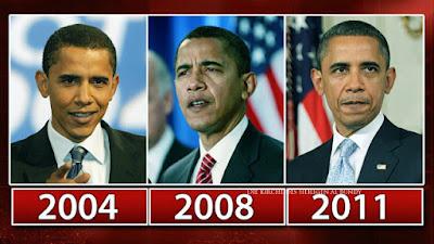 Barack Obama sieht immer älter aus - Vorher Nachher Alterungs Bilder