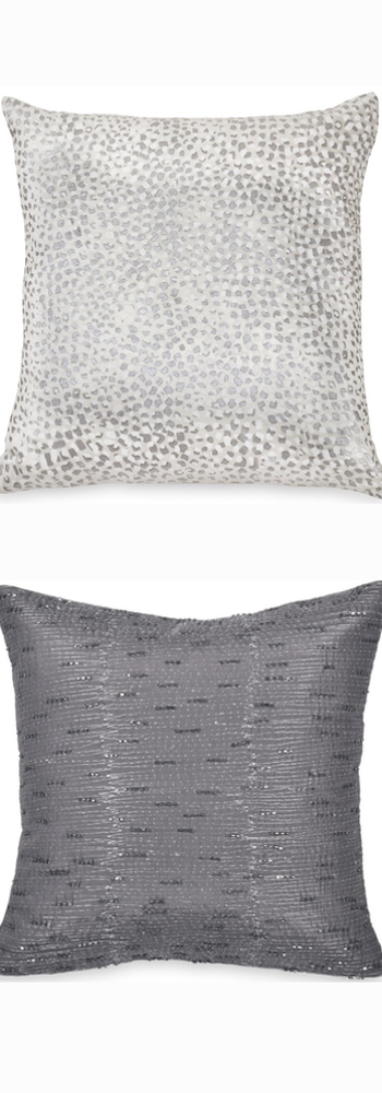 Donna Karan New York 'Surface' Beaded Silk Pillow