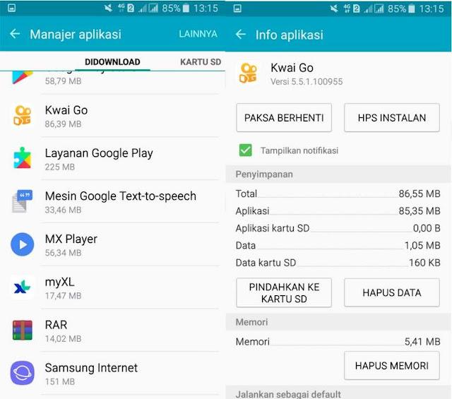 Cara Menonaktifkan Notifikasi Kwai Go di Android