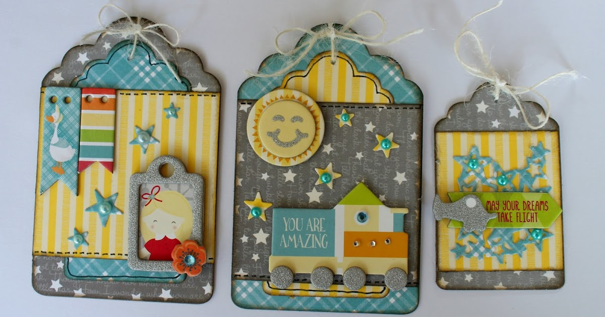scrapstuff and more  toy box gift tags