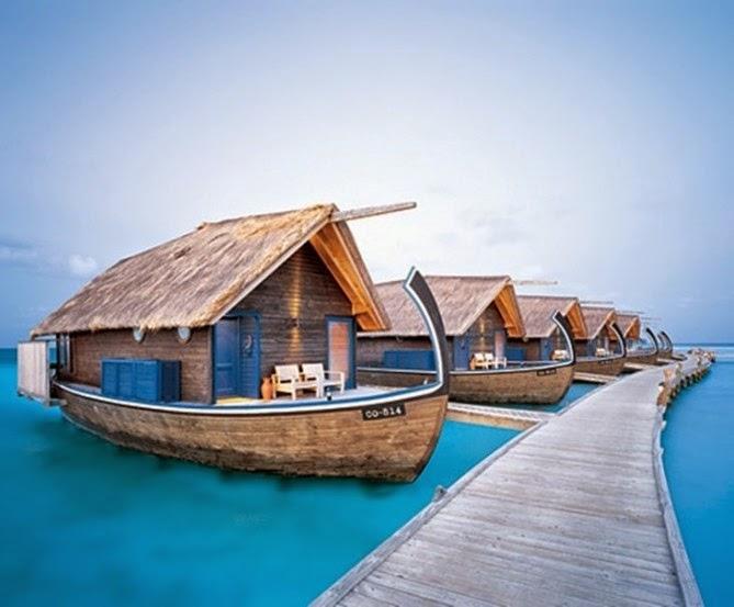 Hotel na čamcu, Maldivi