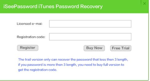 iSeePassword iTunes Passsword Recovery Tool 3