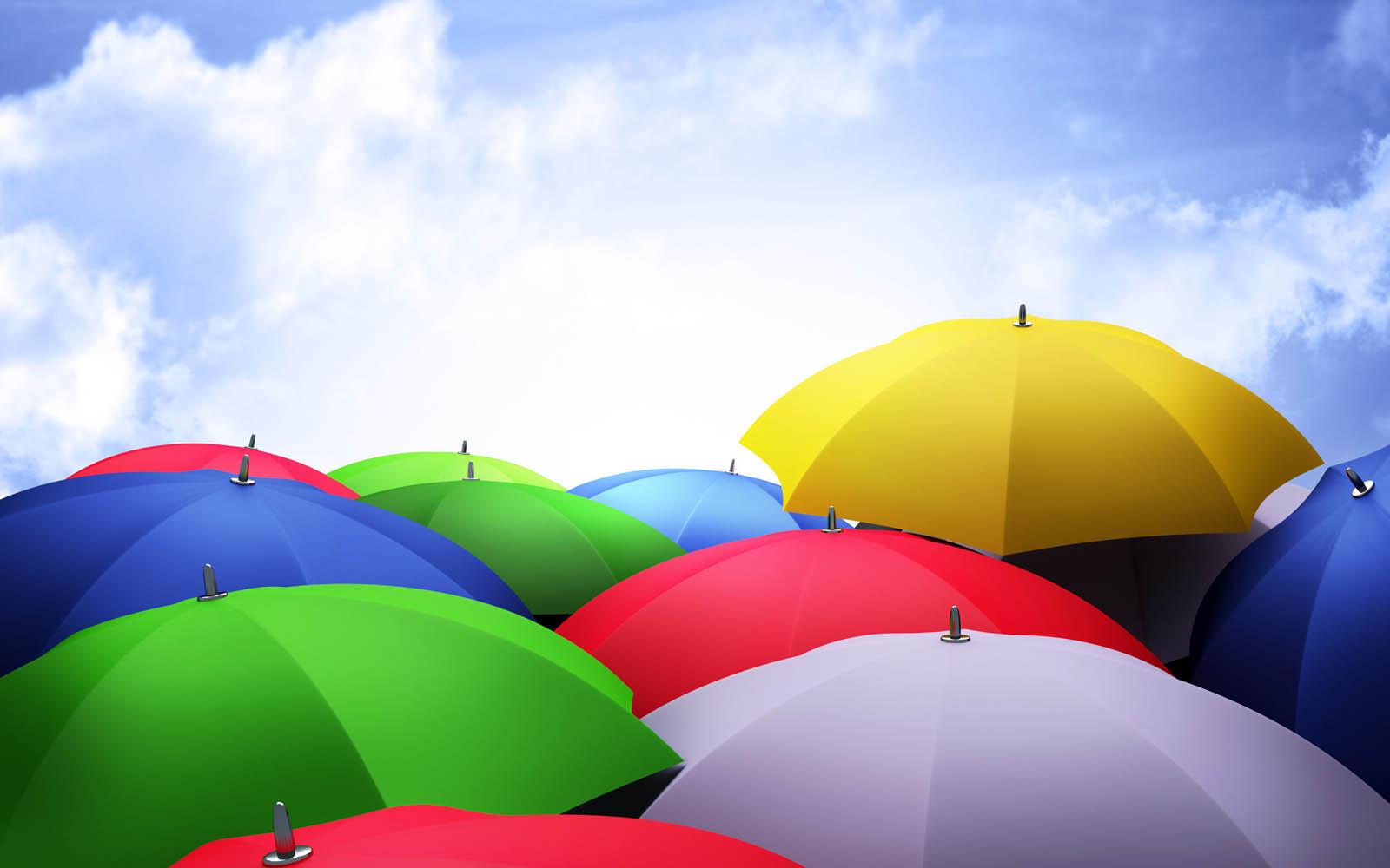 Colorful Umbrellas ~ Desktop Wallpaper
