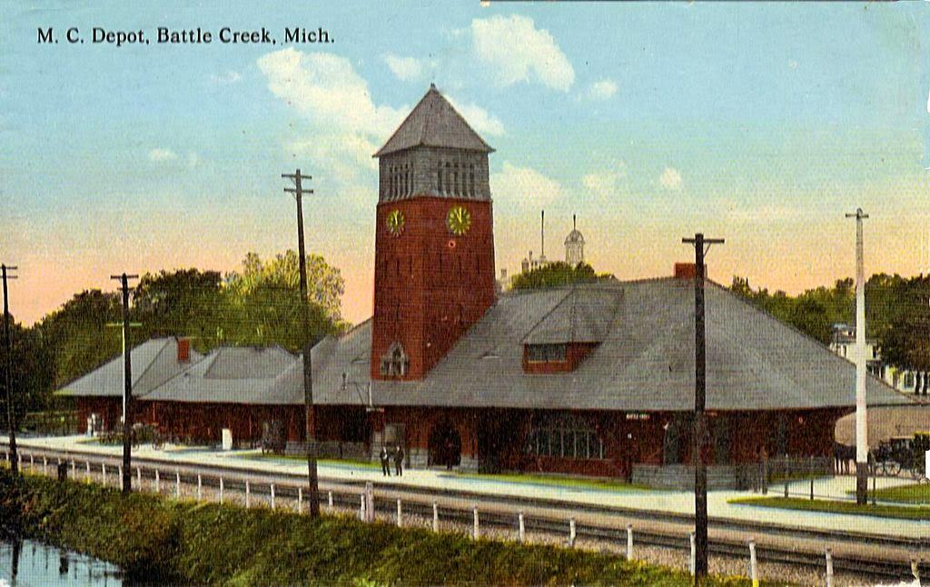Last Day Local Historic Michigan Railroad Depot Now A