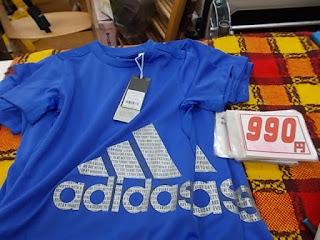 コストコアウトレット、アディダスボーイズTシャツ990円青