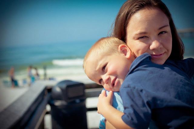 beach family portrait photography