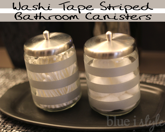 {decorating with style} Quick and Easy Striped Bathroom ...