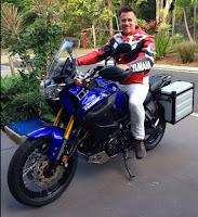 Mark Darwin's new motor bike