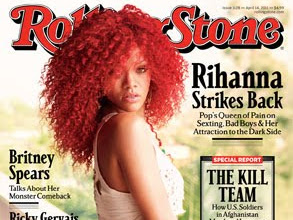 Video of Rihanna Rolling Stone Magazine Shoot!