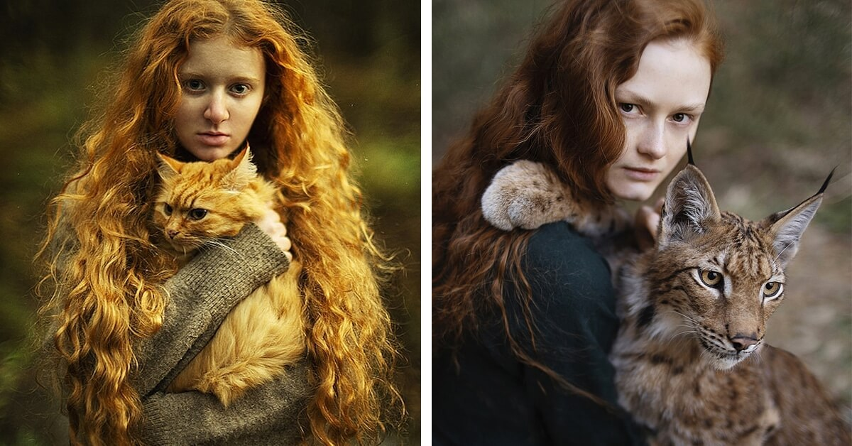 15 Portraits Of Stunning Redheads With Majestic Animals
