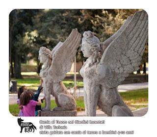 Caccia al Tesoro in maschera nei giardini incantati di Villa Torlonia e della Casina delle Civette - Visita guidata per bambini Roma