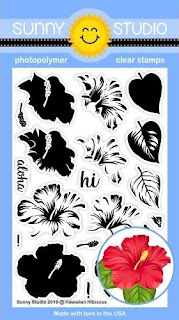 Sunny Studio Stamps: Hawaiian Hibiscus Color Layering Flower 4x6 Clear Photopolymer Stamp Set