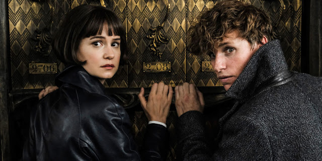 "Katherine Waterson and Eddie Redmayne in ""Fantastic Beasts: The Crimes of Grindelwald"""