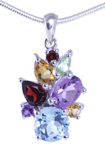 gemstone pendant sterling silver