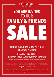 L'Oreal Family & Friends Sale 2016