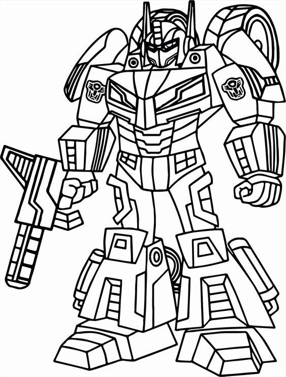 Tranh tô màu Transformers người máy biến hình 5