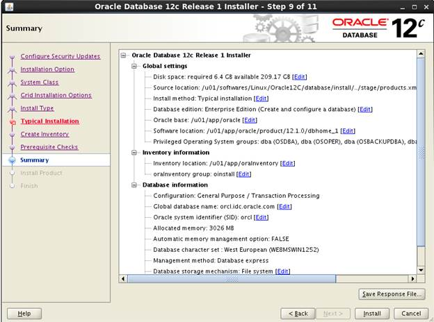 Oracle Database 12c Installation in Linux